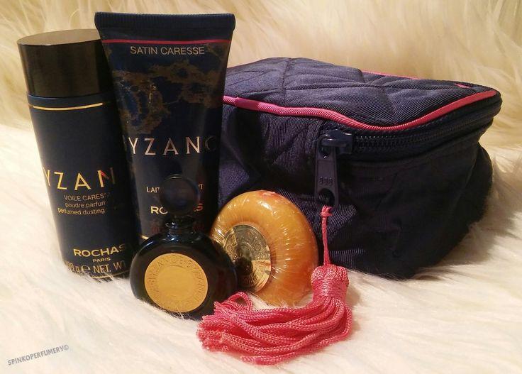 Vintage 1987 Byzance Rochas Eau De Parfum Women's Full Perfume Gift Set with Carry Case