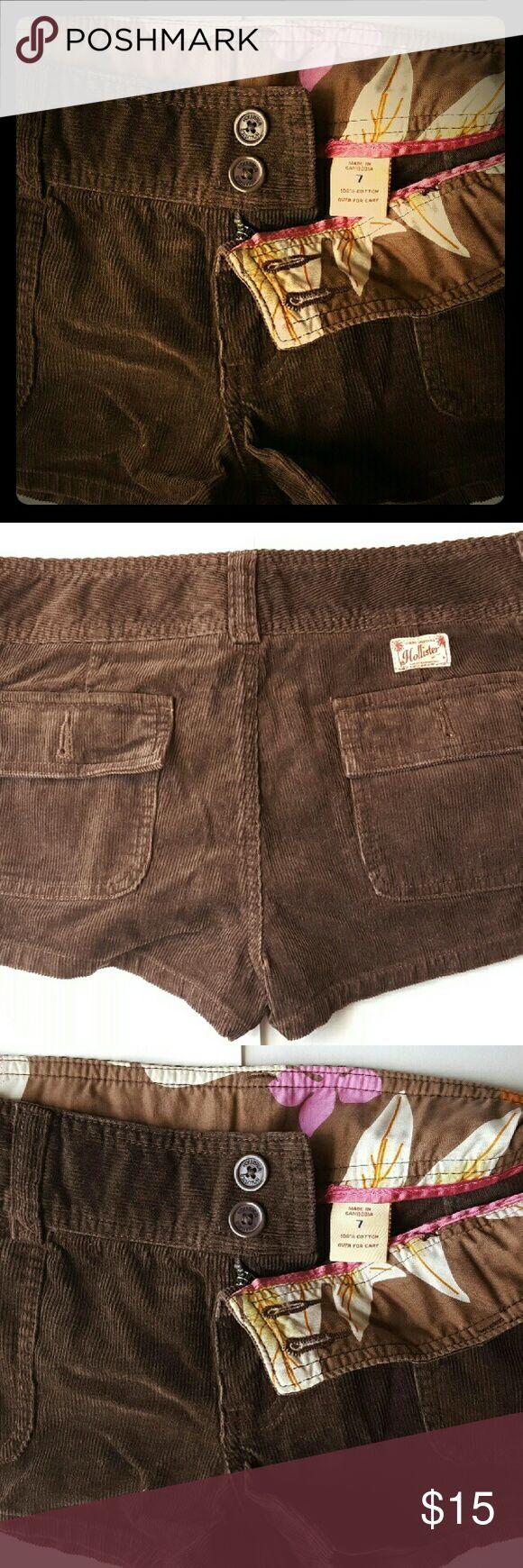 Selling this NWOT Hollister Drk. Brown Corduroy Shorts on Poshmark! My username is: kloglesby. #shopmycloset #poshmark #fashion #shopping #style #forsale #Hollister #Pants