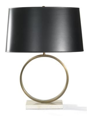 "Mitchell Gold + Bob Williams. Marco Table Lamp. 24.5""h. 150 W. 3 way. Also available with light color shade."