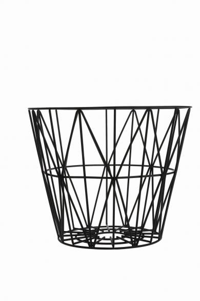 Ferm Living - wire basket, sort M, 499kr