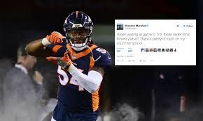 Brandon Marshall and Broncos troll Raiders fans on Twitter after Texans win