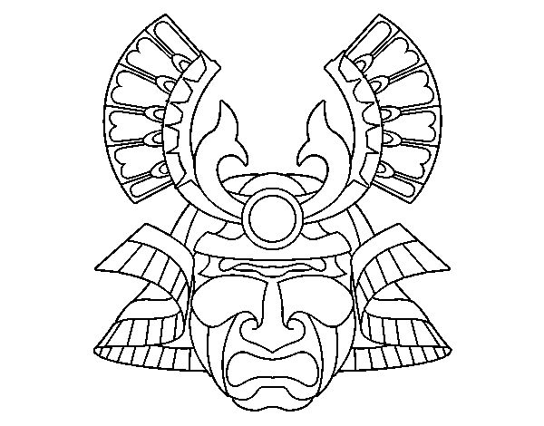 Coloriage de masque chinoise pour colorier - Masque spiderman a imprimer ...