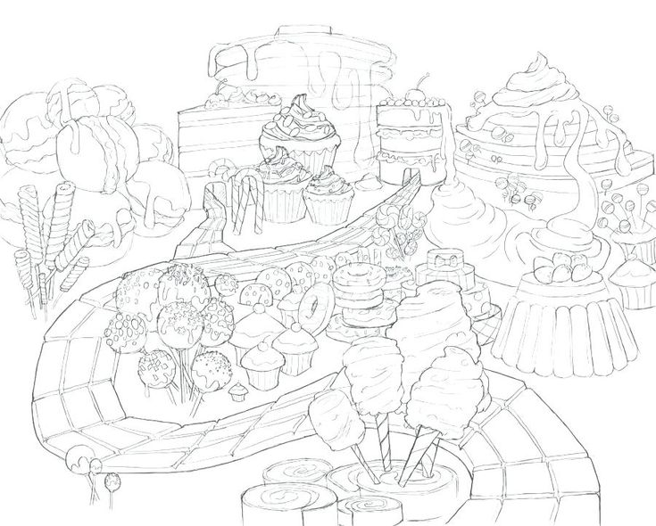 900x722 candy land coloring pages - himchan.me | adult 5 ...