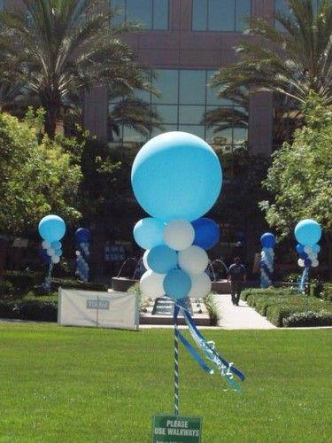 balloon topiary. #balloon #column #decor