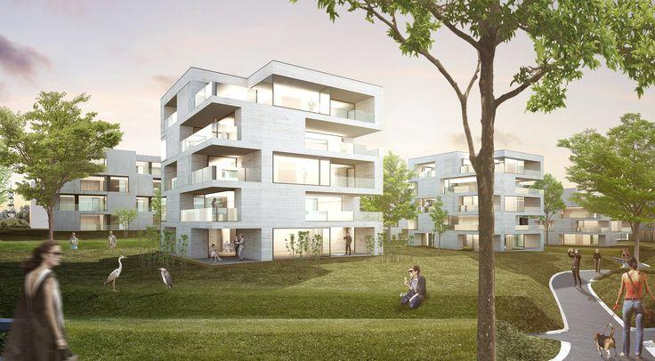 4th Prize: wohnen im Park, © steimle architekten
