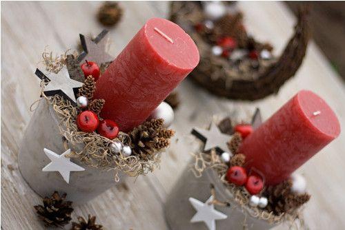 """Vánoční svícen \""""Jablíčka s tilandsií\"""""""