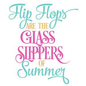 Silhouette Design Store - View Design #136235: flip flops glass slippers of summer