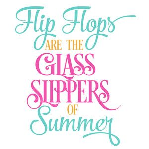 Silhouette Design Store - View Design #136235: flip flops glass slippers of summer