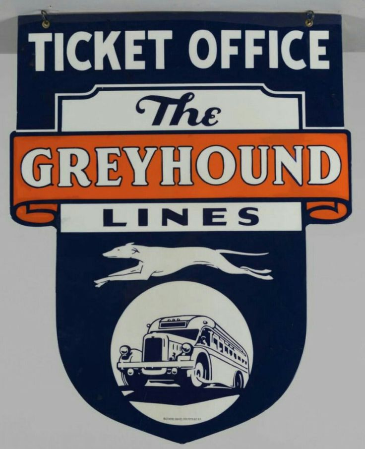 Greyhound Bus Tickets Porcelain Sign | Porcelain & Tin ...