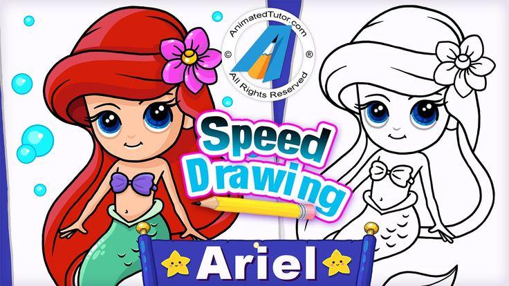 how to draw disney princess ariel