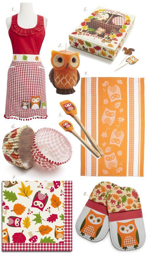 Autumn Owl Kitchen Gear