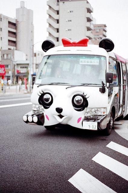 fuckyeahjapanandkorea:  Asakusa Panda Bus by common sayings