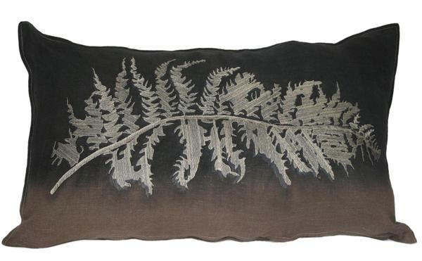 Fern Embroidery 3 Alsophila in Taupe