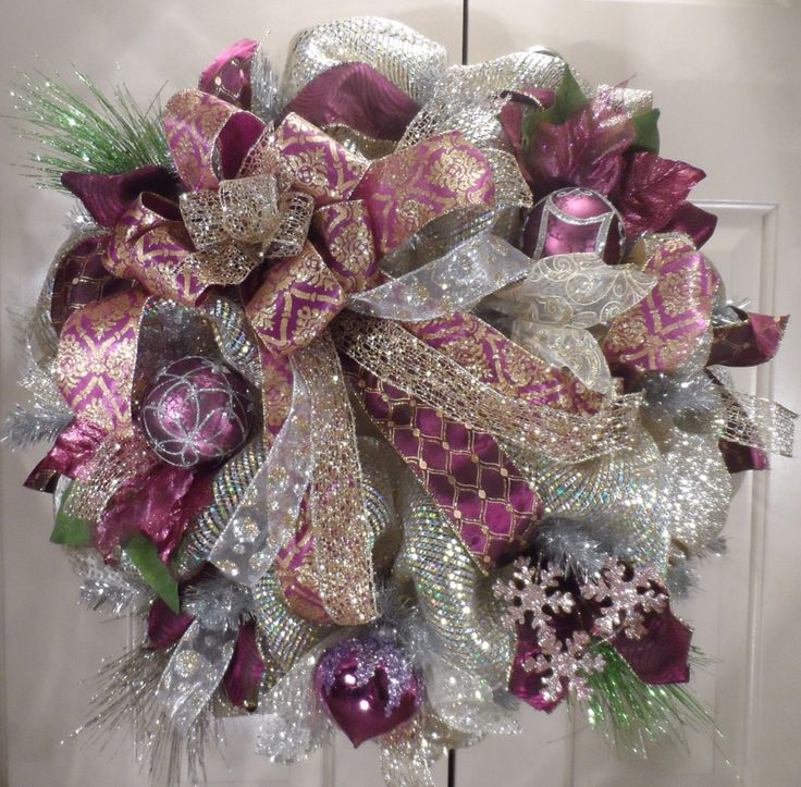 Sugar Plum Fairy Christmas Wreath from Over The Top Wreaths
