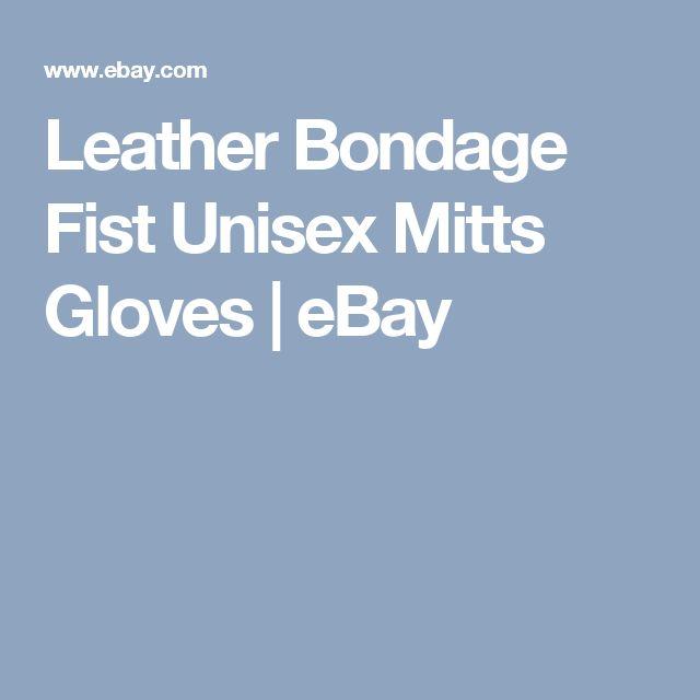 Leather Bondage Fist Unisex Mitts Gloves    eBay