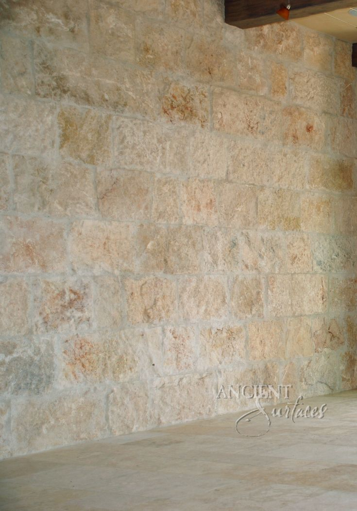 Rough Limestone Tuscan Wall Cladding by Ancient Surfaces.  http://www.ancientsurfaces.com/Antique-Rough-Wall-Stone-Cladding.html