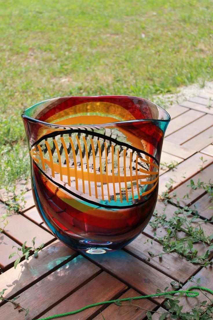 Multicolored vase
