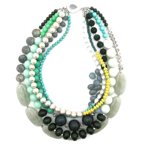 Can't Pass It By - mixed bead necklace