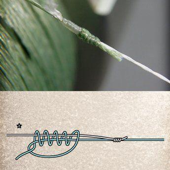 Verbindet zwei Schnüre: Doppelter Grinner-Knoten