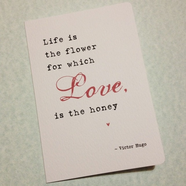 Love is the honey quote valentine card on sale in arbee cards etsy