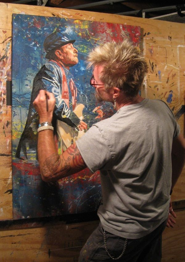 Ronnie Earl Painting http://theguitarbuzz.com/guitar-art/ronnie-earl-painting-contest/#comments