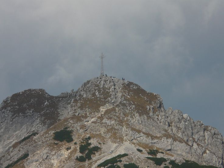 Mount Giewont with cross Highs Tatras  Poland