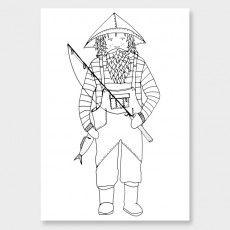 Fisherman 1 Art Print by Tina Mose