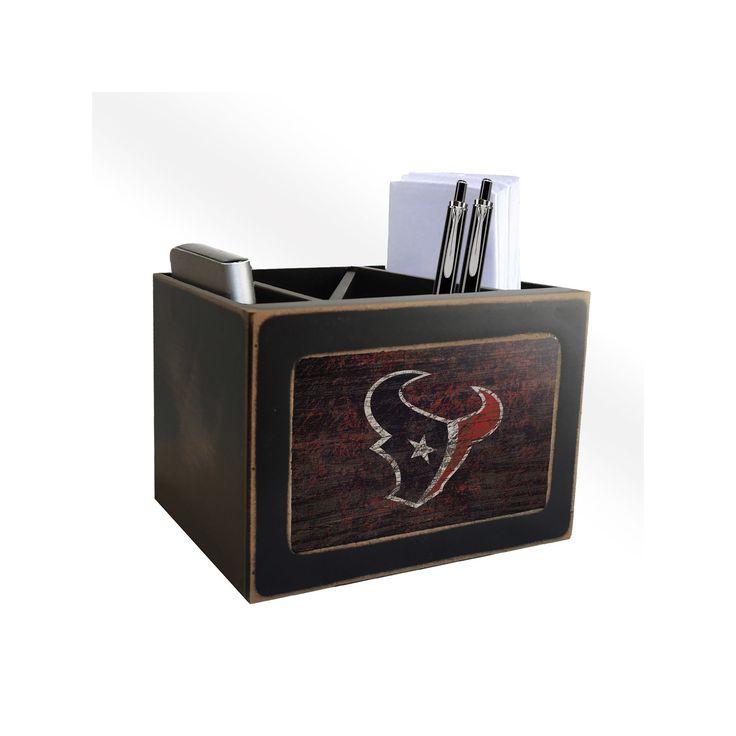 NFL Houston Texans Fan Creations Distressed Desktop Organizer