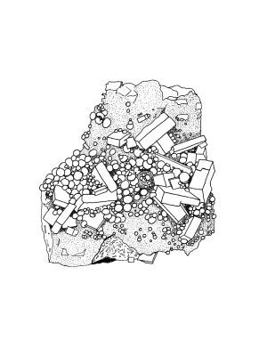 Rocks and minerals coloring pages