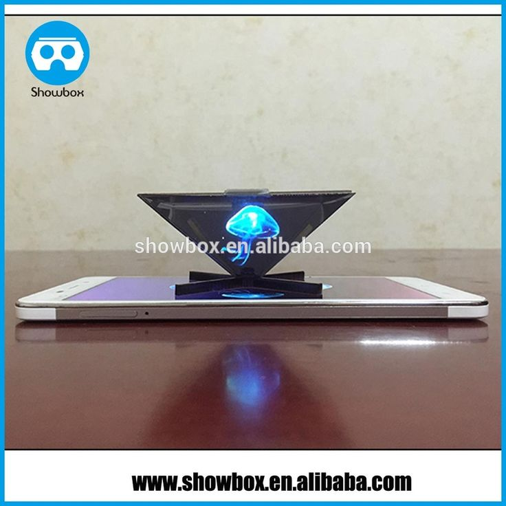 3D Hologram Video Projector Pyramid for any Phones reverse pyramid