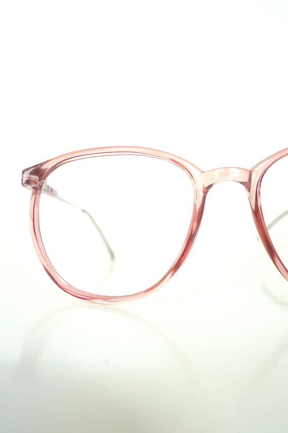 f87791a242a91 1980s Clear Light Red Glasses Womens Italian Red Vintage