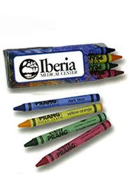 Prang Impressionist crayon 4 pack with an artistic package design