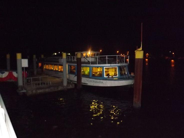 Die Uckermark im Dunkel Oder Schifffahrt