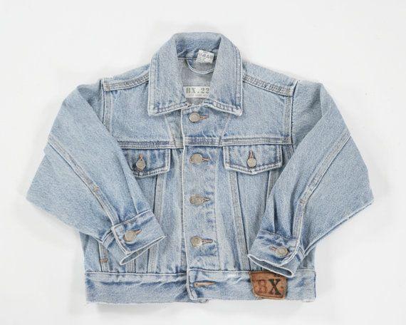 Children/s vintage denim jacket. Age 5 by PeachandLoveVintage, £15.00
