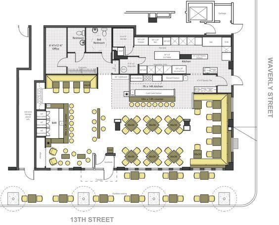restaurant floor plans ideas - Google Search