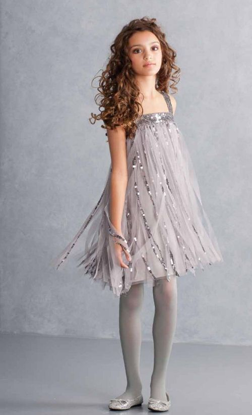 Biscotti Couture Dress For Tweens Silver Flapper Preorder