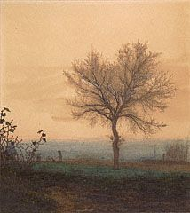 Landscape with a Bare Tree and a Plowman, Léon Bonvin, 1864
