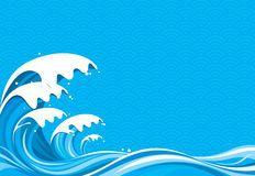 Dessin de vague déferlante Photographie stock libre de droits