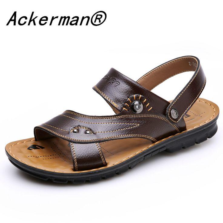 EU38-44 Мужчины Сандалии Из Натуральной Кожи Мода Летняя Обувь Мужчины Тапочки Большой Размер мужские Сандалии Новые Мягкие Кожаные Ботинки Мужчины босоножки сандали босоножки на платформе сандалии обувь  пляжная обувь