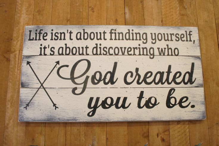 Life Isn't About Finding Yourself It's About It's About Discovering Who God Made You To Be Pallet Sign Christian Wall Decor Nursery Wall