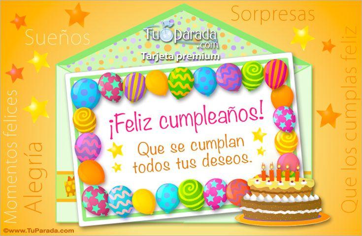 Tarjeta de cumpleaños con guarda de globos - Sobres ...
