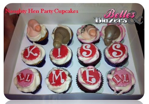 These Naughty Hen Party Cupcakes are sure to go down a hit...you dirty things!!!   www.henpartyideas.ie #henparty #noveltycakes #henpartyideas