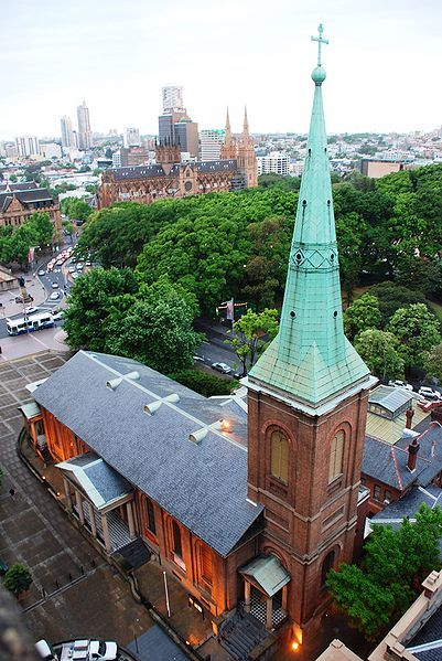St James' church (Sydney) was constructed between 1819 and 1824. The Spire was restored in 2010 using Copper (Green) Patina. and won the National Trust award 2013: http://www.nationaltrust.org.au/nsw/NSWNationalTrustHeritageAwards2013 AND the Australian Institute of Architects Greenway award for heritage architecture:  http://dynamic.architecture.com.au/awards_search?option=showaward&entryno=2011022957