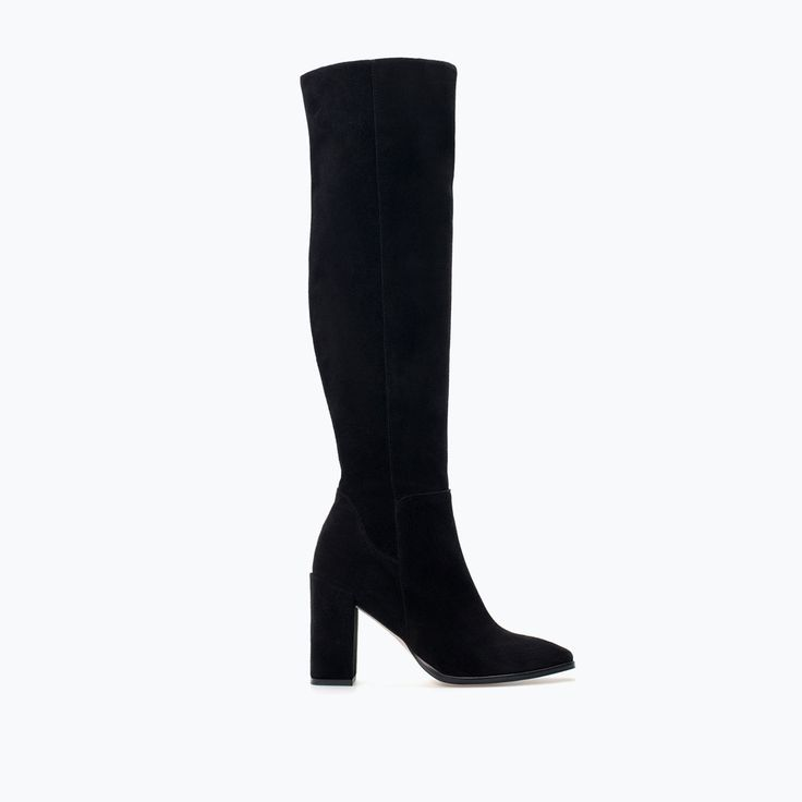 HIGH-HEELED LEATHER BOOT-Shoes-Woman-SHOES & BAGS | ZARA United States