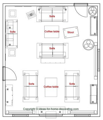 17 best images about furniture arrangement on pinterest for Small living room floor plan