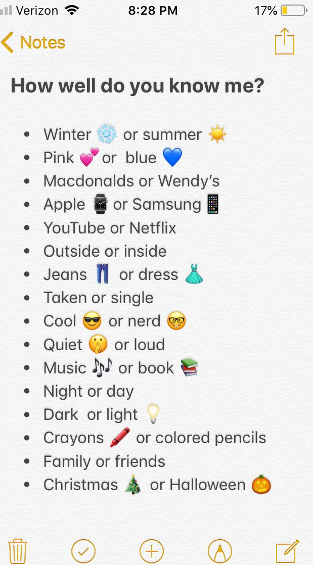 HOW WELL DO YOU KNOW ME? Things to do at a sleepover