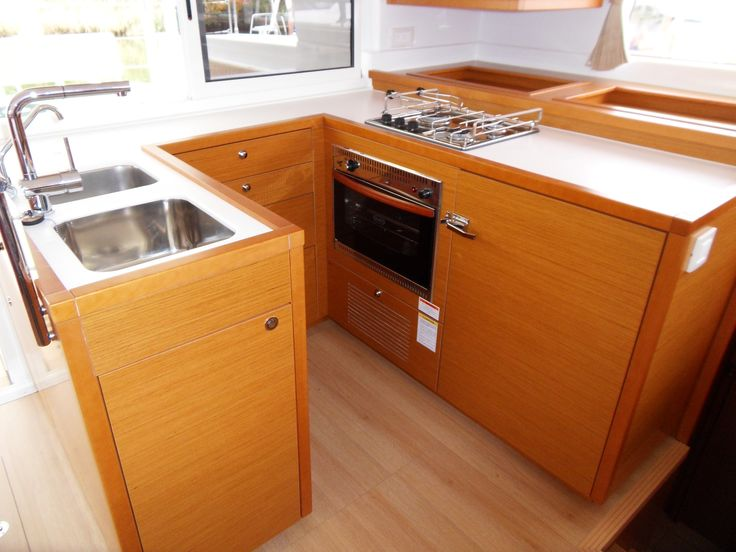 Lagoon 450 galley catamaran galleys or yacht interiors for Boat galley kitchen designs