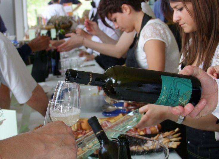 Degustazione di Ortrugo frizzante della Tenuta Pernice di Borgonovo Val Tidone (PC).  #piacenza #borgonovo #valtidone #tenuta #pernice #ortrugo #vino #piacentino #aperitivo #wine