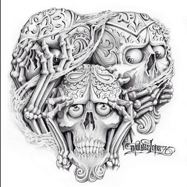 Best 25+ Evil Skull Tattoo Ideas On Pinterest