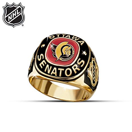 The thrill of being a fan is yours to enjoy with a NHL® Ottawa Senators® ring that you'll be proud to wear